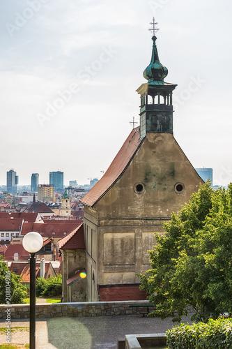 Foto op Aluminium Oude gebouw Bratislava, Slovakia May 24, 2018: Orthodox St. Nicholas church in Bratislava