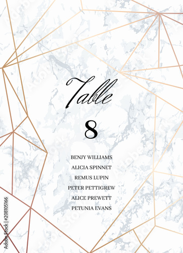 Wedding Template Seating Card With Guest List Tented Table