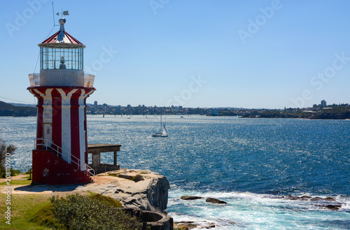 Fotobehang Stad gebouw Historic Hornby Lighthouse, also known as South Head Lower Light, erected in 1858 in NSW, Australia