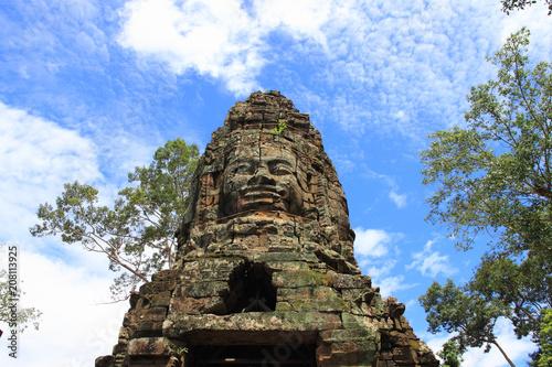 Fotobehang Bedehuis Part of a Ta Prohm temple, Siem Reap, Cambodia.