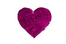 Painting Of Big Purple Heart I...