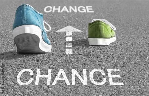 Fotografie, Obraz  Chance zur Veränderung - Chance to Change