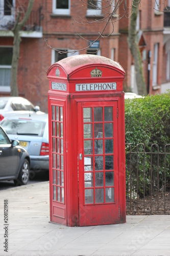 an English classic red telephone box Poster