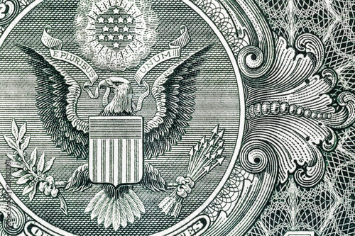 Poster Aigle Closeup of back side of 1 dollar bill