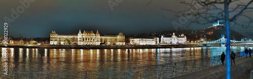 Fotografie, Obraz  Foto Panoramica Città di Budapest Notte