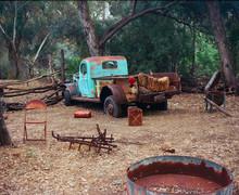 Broken Down Pickup Truck