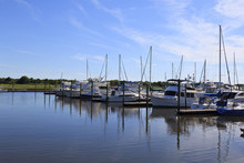 Pleasure Boats Docked At South...