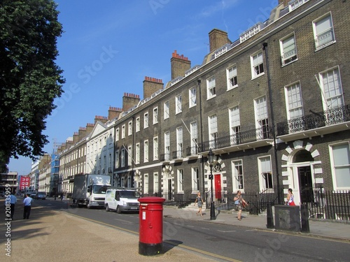 The north side of Bedford Square, Bloomsbury, Camden, London. Canvas Print