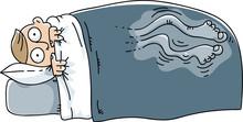 A Cartoon Man Who Cannot Sleep...