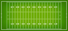 American Football Field With M...