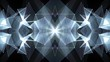 abstract symmetrical WHITE polygon shape net shiny cloud animation background new quality dynamic technology motion colorful video footage