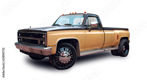 American Pickup Truck White Background Buy This Stock
