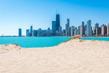 Chicago Skyline At North Beach