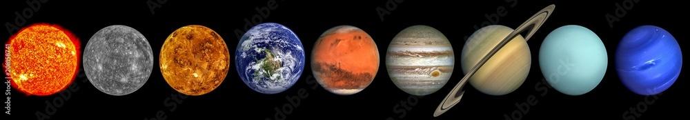 Fototapety, obrazy: The solar system