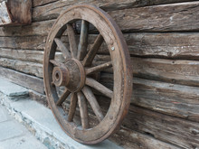 Antique Wooden Wheel Of Carria...