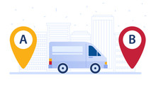 Delivery Van Shipping Cargo Ac...