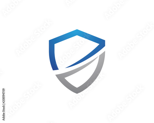 Canvas-taulu Shield symbol logo template vector