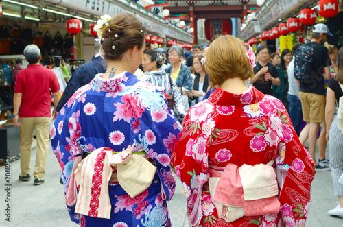 In de dag Japan Sensoji temple Tokyo, Japan