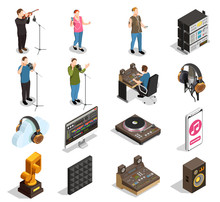 Music Industry Icons Set