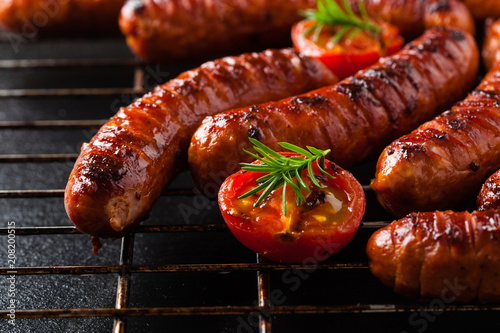 Fotomural Grilled sausages