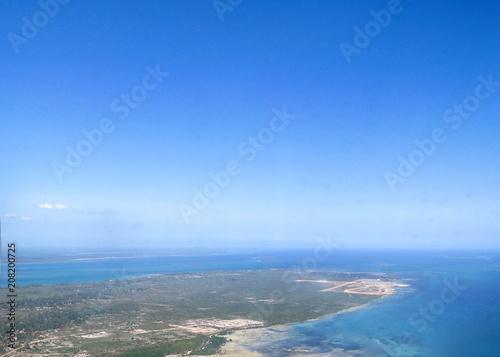 Spoed Foto op Canvas Zanzibar Zanzibar from Above (aerial views)