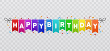 Happy Birthday Flags Banner. T...