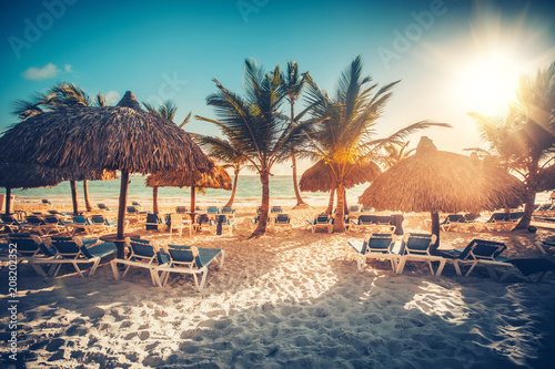 Tropical Beach Resort in Punta Cana, Dominican Republic Fototapeta