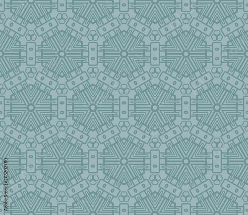 Fototapety, obrazy: creative geometric ornament. seamless vector illustration. design for fashion, interior, textile