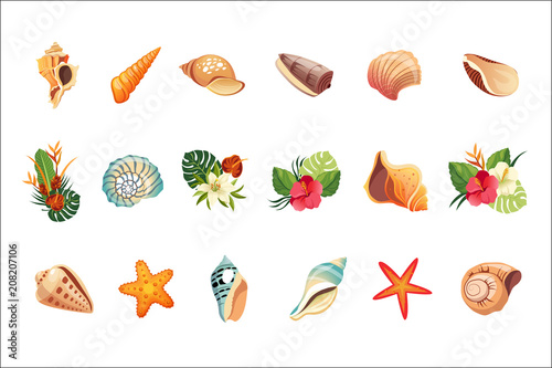 Photo Realistic Tropical Icons Set