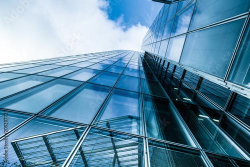 Cadres-photo bureau Batiment Urbain modern business skyscrapers. Windows of Business Office