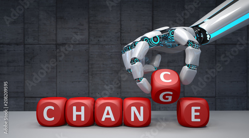 Fotografía  Robot Hand Change Chance
