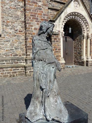 Fotografie, Obraz  Hildegard-von-Bingen-Denkmal in Bingen / Rhein