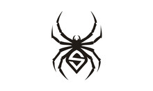 Black Spider With Initial S Logo Design Inspiration