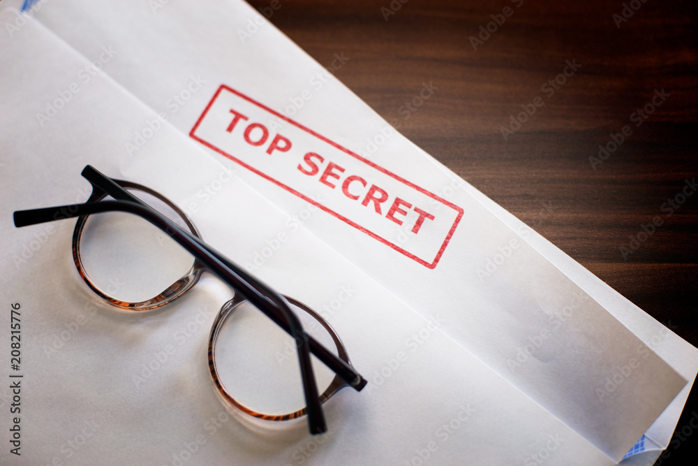Fototapeta Inscription Top Secret