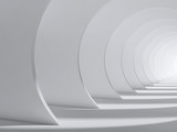 Fototapeta Perspektywa 3d - Abstract white tunnel interior. 3d render