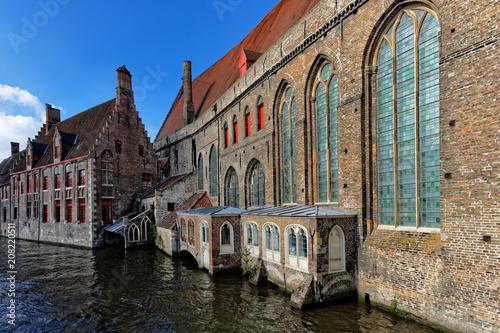 Deurstickers Brugge Old town of Bruges..