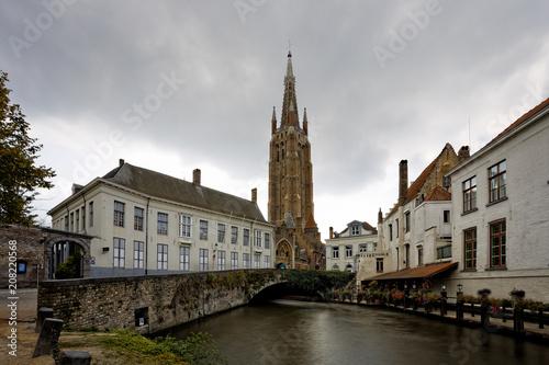 Foto op Canvas Brugge Old town of Bruges..