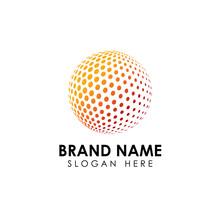 Halftone 3D Globe Logo Design ...