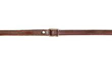 Old, Brown Leather Belt, Strap Isolated On White Background