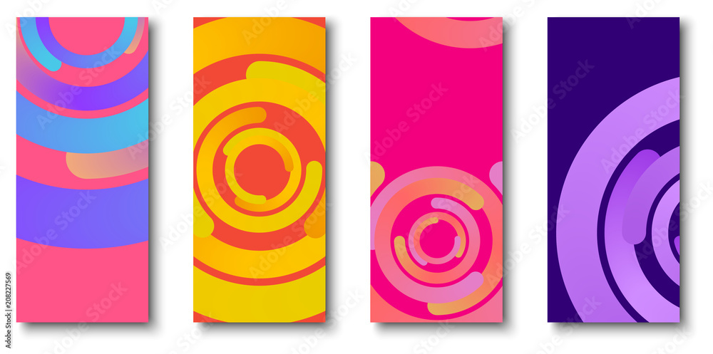Fototapeta Colorful backgrounds with bright circles pattern.