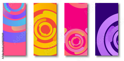 Papel de parede Colorful backgrounds with bright circles pattern.