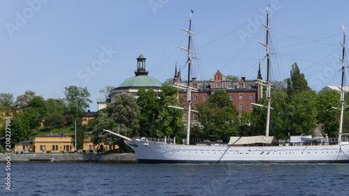 Staande foto Stockholm Stockholm bateau