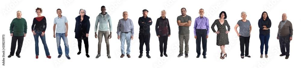 Fototapeta group of mixed people