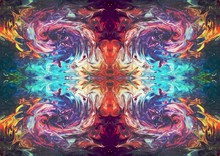 Abstract Symmetric Art. Mirror...