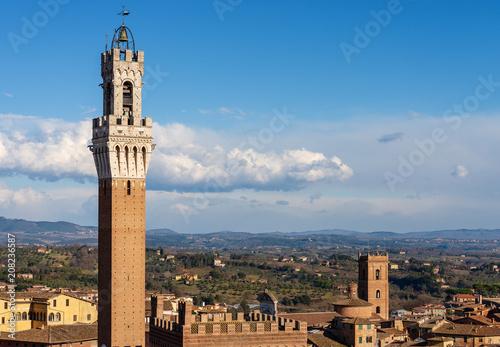 Keuken foto achterwand Historisch geb. Torre del Mangia (Tower of Mangia) 1348. Siena, Tuscany, Italy