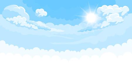 Nebeska pozadina sa suncem i bijelim dnom