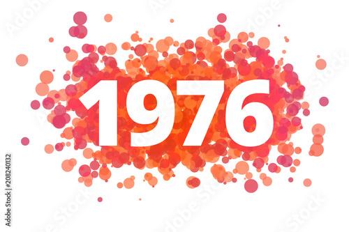 Fotografering  Jahr 1976 - dynamische rote Punkte