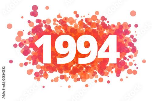 Fotografia  Jahr 1994 - dynamische rote Punkte