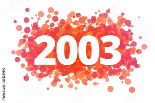 Fotografia Jahr 2003 - dynamische rote Punkte