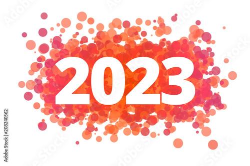 Fotografia  Jahr 2023 - dynamische rote Punkte